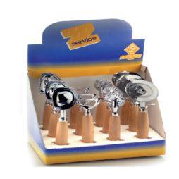 Espositore 12 utensili manico legno